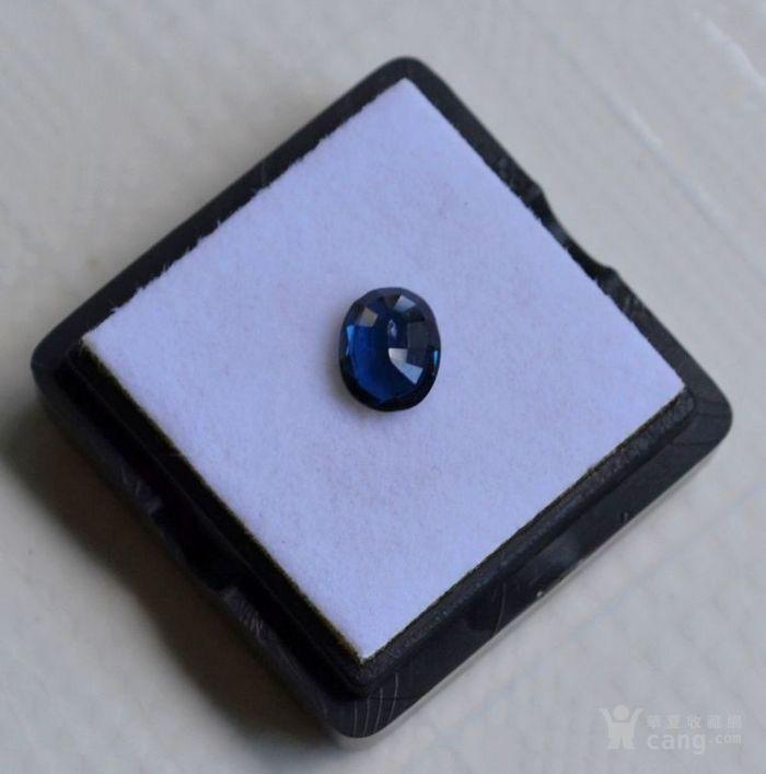 蓝宝石 斯里兰卡纯天然椭圆型1.20克拉蓝宝石图5