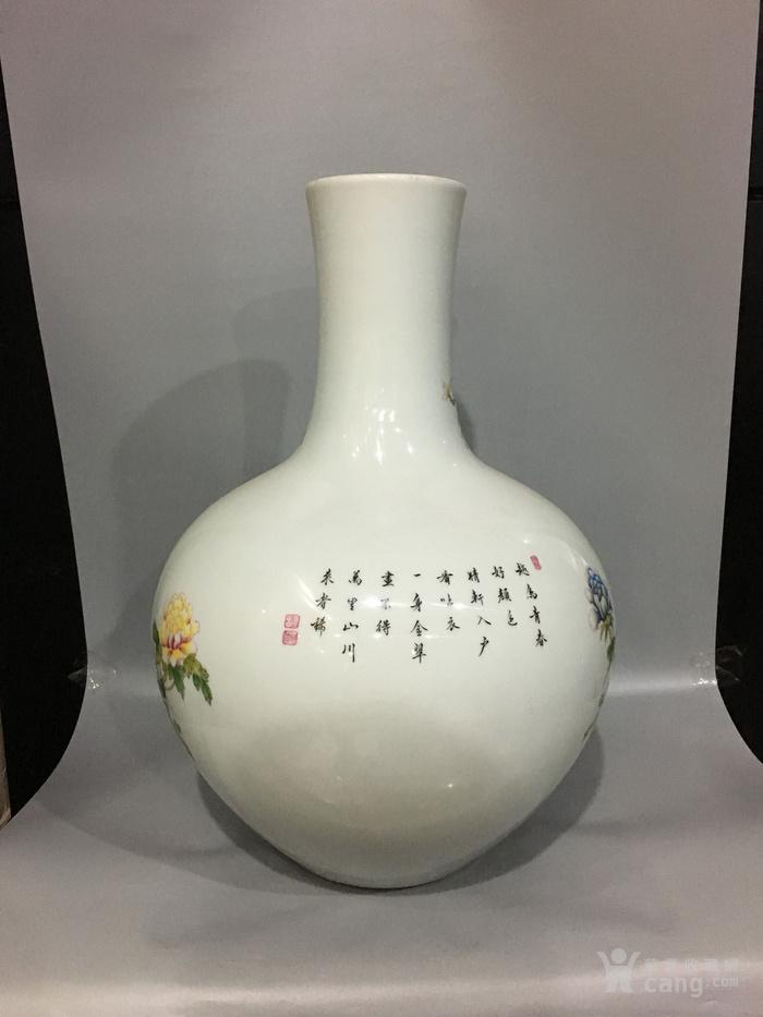 粉彩天球瓶图3