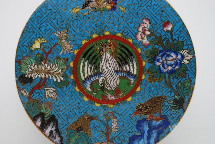 清 铜胎鎏金景泰蓝盒d56图6