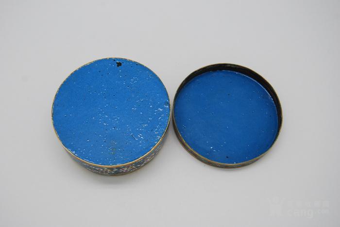 清 铜胎鎏金景泰蓝盒d56图11