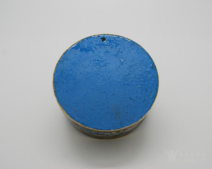 清 铜胎鎏金景泰蓝盒d56图12