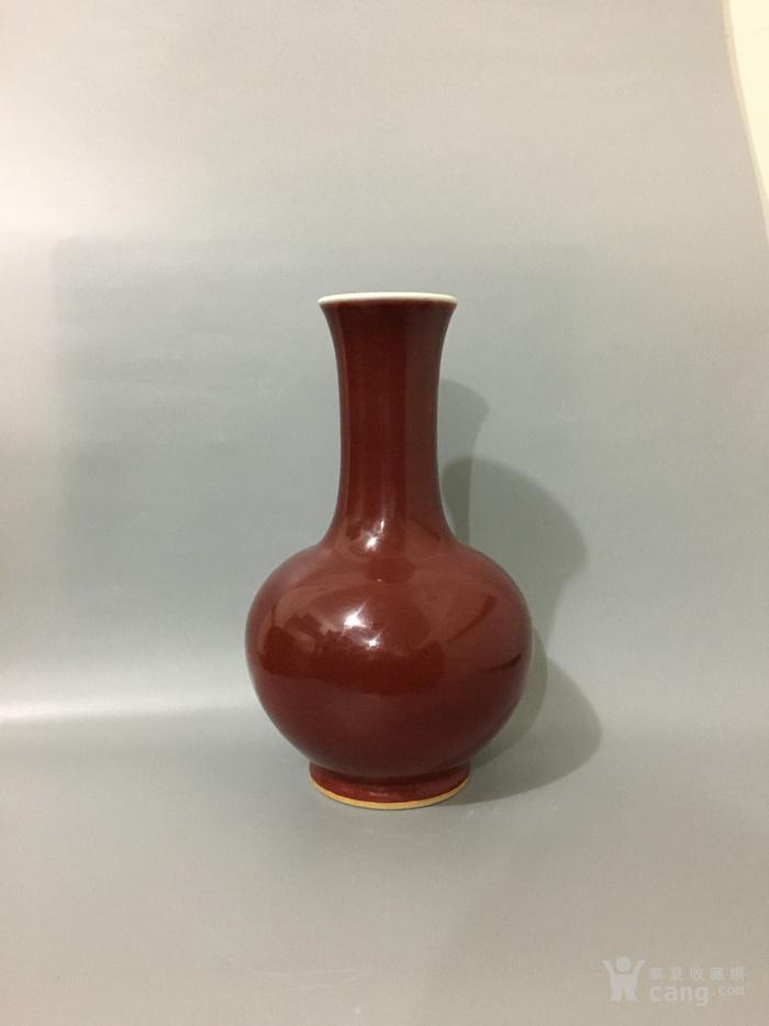 郎窑红赏瓶图2