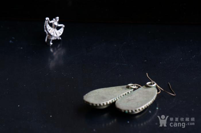 欧美纯银掐丝镶嵌兽骨耳坠特价图5