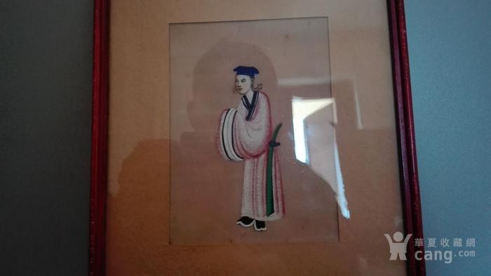 到货国内   晚清广州出口人物通草画5幅套件图9