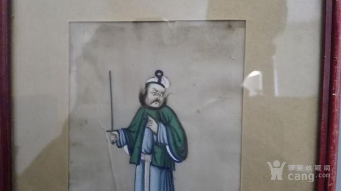 到货国内   晚清广州出口人物通草画5幅套件图11