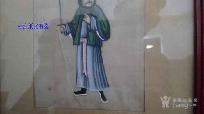 到货国内   晚清广州出口人物通草画5幅套件图12