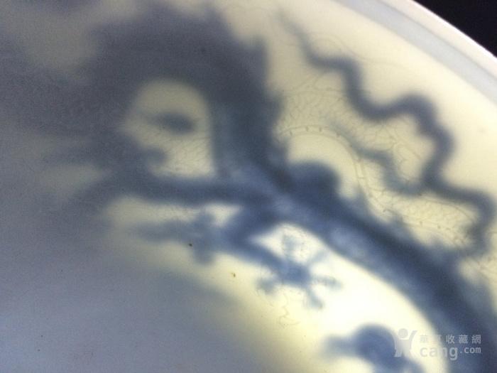 青花龙纹刻画高脚杯图9