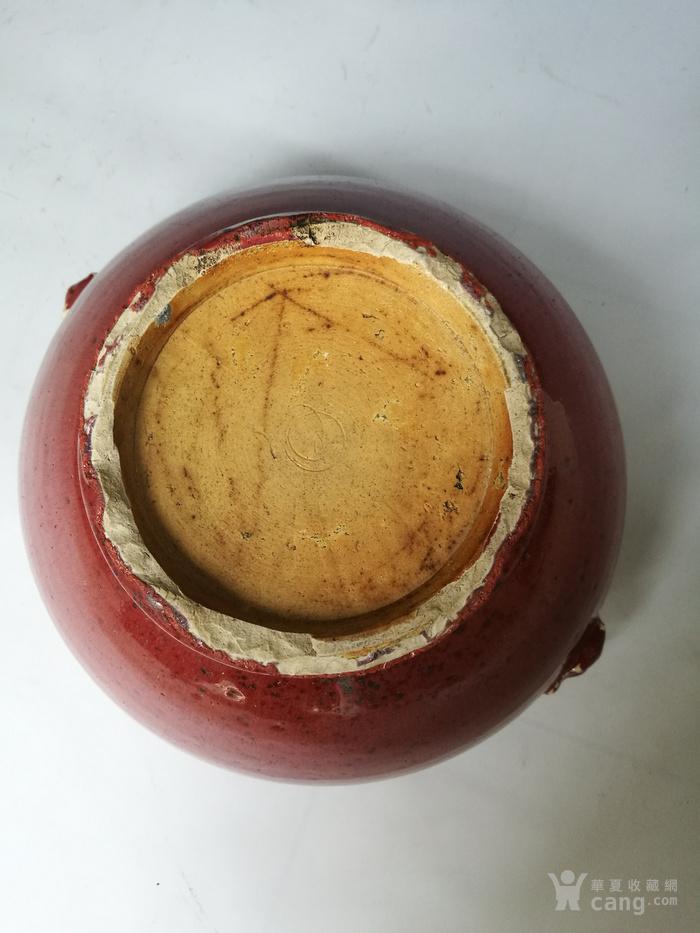 清中期 红釉双狮耳香炉图6