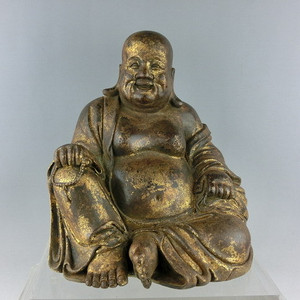 清代铜漆金弥勒佛