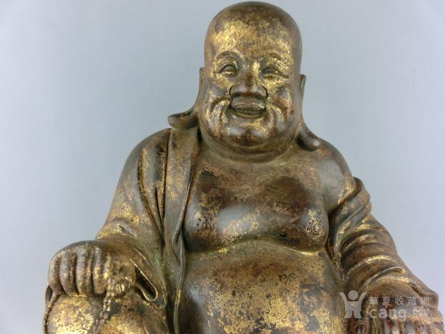 清代铜漆金弥勒佛图2