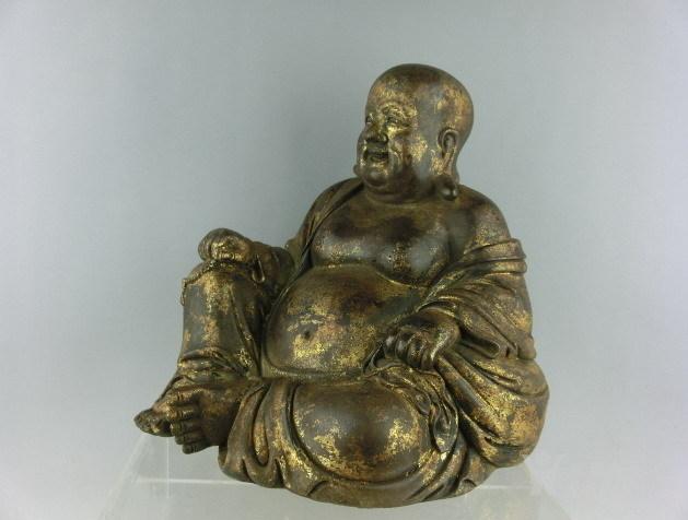 清代铜漆金弥勒佛图4