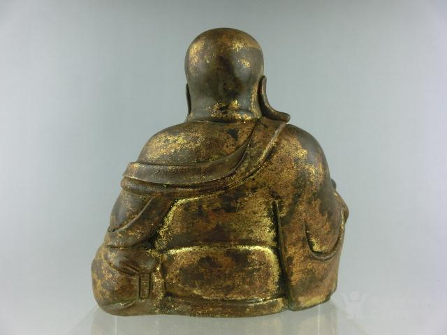 清代铜漆金弥勒佛图5