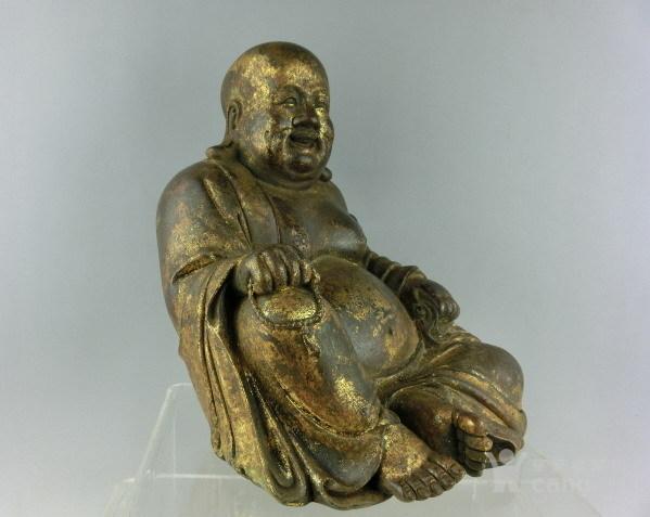 清代铜漆金弥勒佛图3