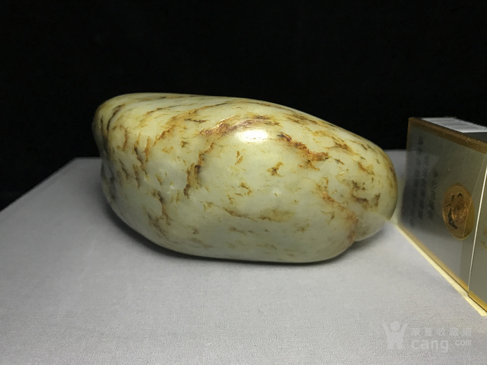 新疆籽料原石/原皮和田青花籽料图6