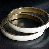 回流铜嵌材质手镯2个打包价