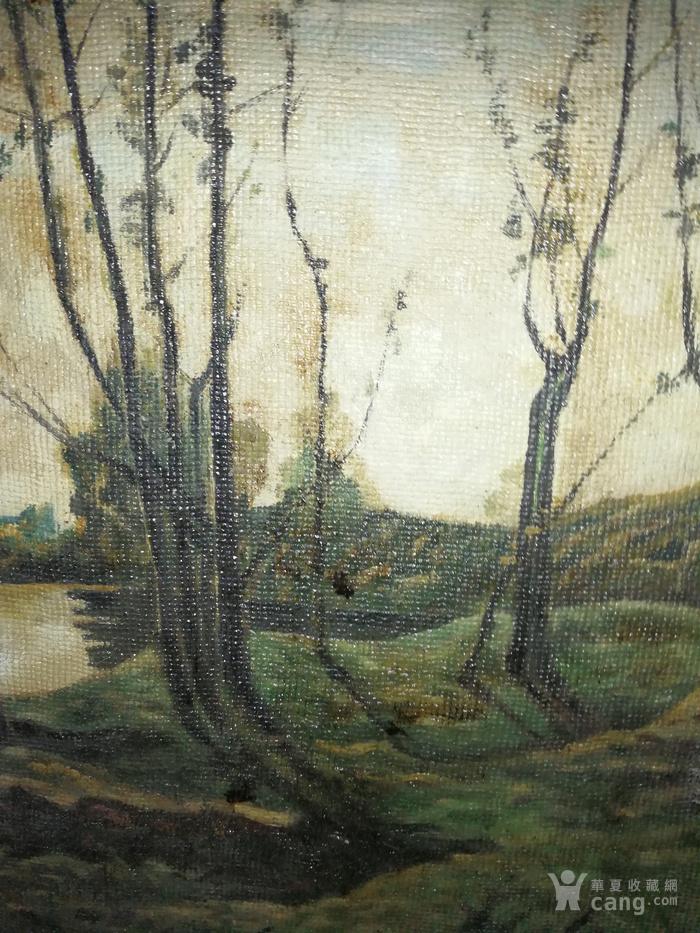 已故油画家张安治风景油画一幅(带画框)
