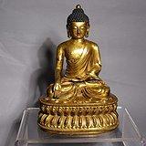 【重器】鎏金紫铜宫造释迦牟尼佛像一尊