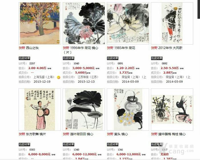 【已鉴定】绝对精品:苏州美协主席―贺野合景成扇(双面花卉)图9