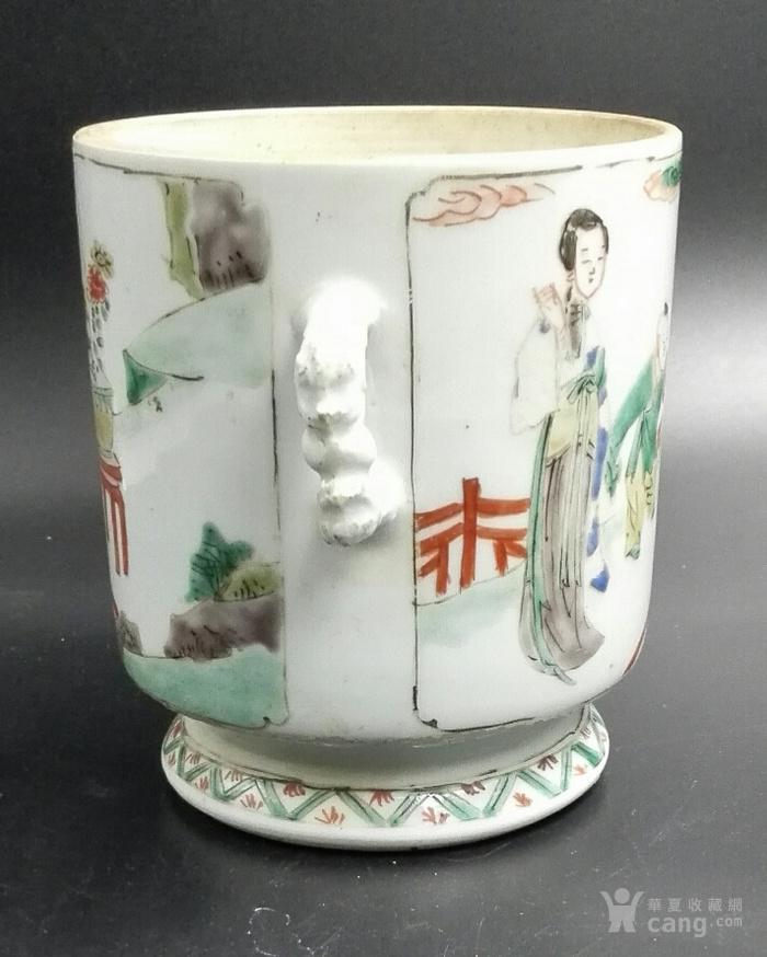 康熙五彩三娘教子冰盏图9