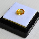 纯黄色蓝宝石 斯里兰卡纯天然椭圆型1.62克拉蓝宝石