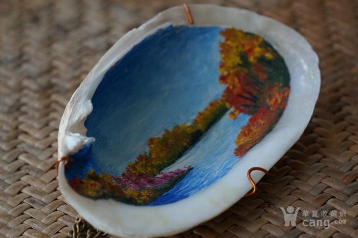 西洋油画贝壳带签名图8