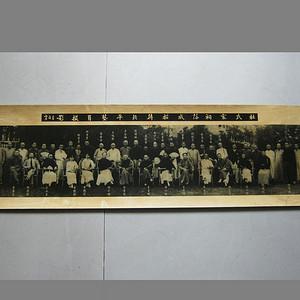 杜月笙--杜氏家祠落成招待北平艺员摄影照