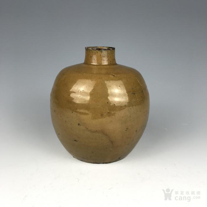 宋代 紫金釉酒瓶图1