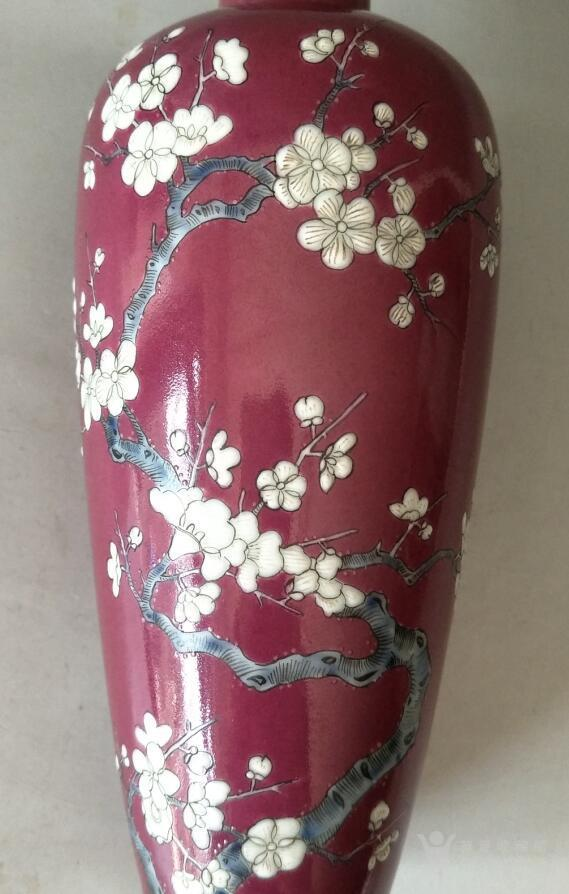 粉彩梅花纹瓶