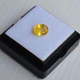 纯黄色蓝宝石 斯里兰卡纯天然椭圆型1.11克拉蓝宝石