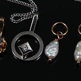 18k项链1条 钻石 吊坠2个 天然珍珠耳环,不议价。