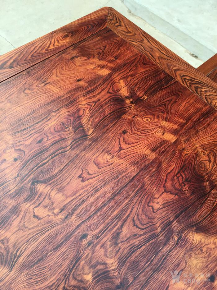 降香黄檀木器 老木头旧货 近代海南黄花梨一套方桌图2