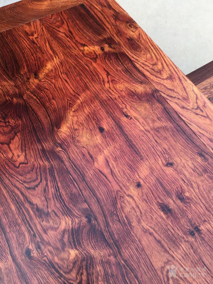 降香黄檀木器 老木头旧货 近代海南黄花梨一套方桌图4