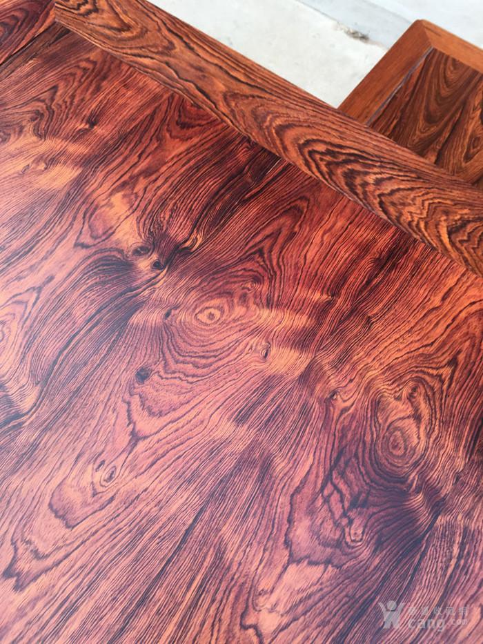 降香黄檀木器 老木头旧货 近代海南黄花梨一套方桌图3