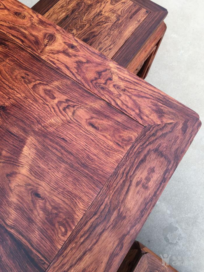 降香黄檀木器 老木头旧货 近代海南黄花梨一套方桌图5