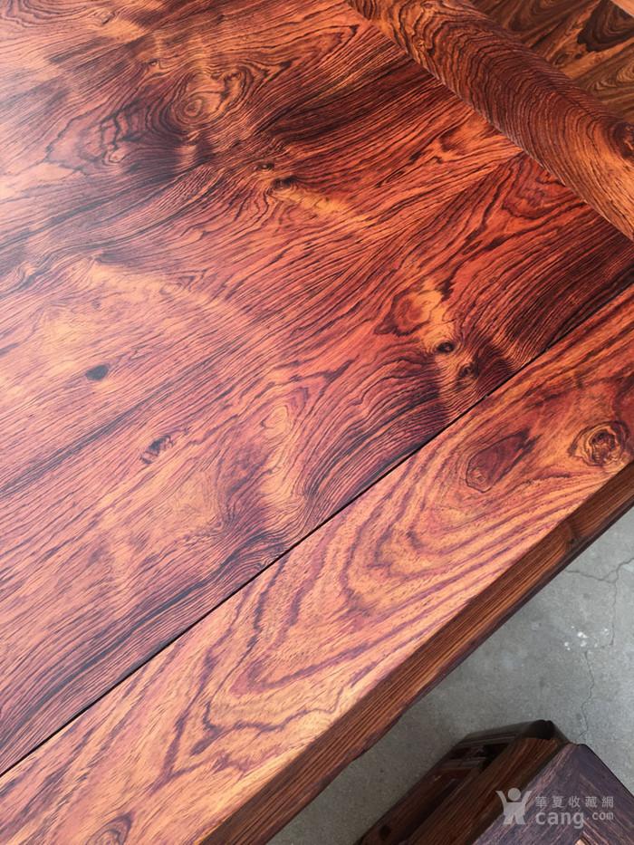 降香黄檀木器 老木头旧货 近代海南黄花梨一套方桌图8
