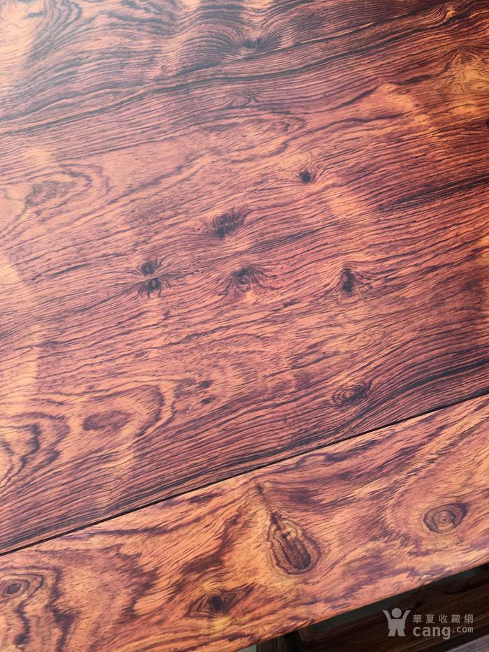 降香黄檀木器 老木头旧货 近代海南黄花梨一套方桌图9