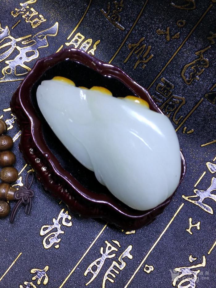 新品 精美和田白玉籽料 莲蓬把件 苏州工艺图6
