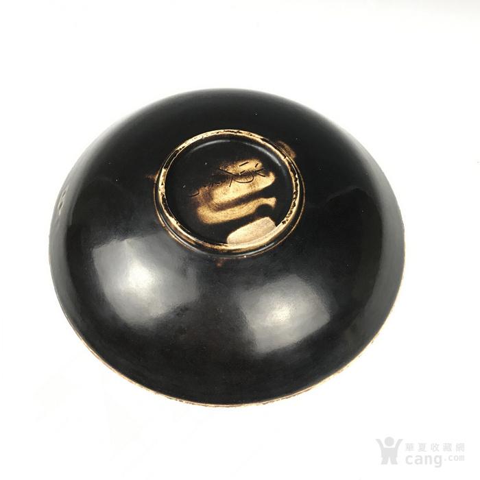 宋代 黑定刻花牡丹纹盘图2