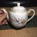 今日特价,80年代德化国营厂手工画茶壶