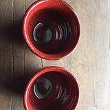 今日特价,俩个柴烧窑变中国红,各人杯
