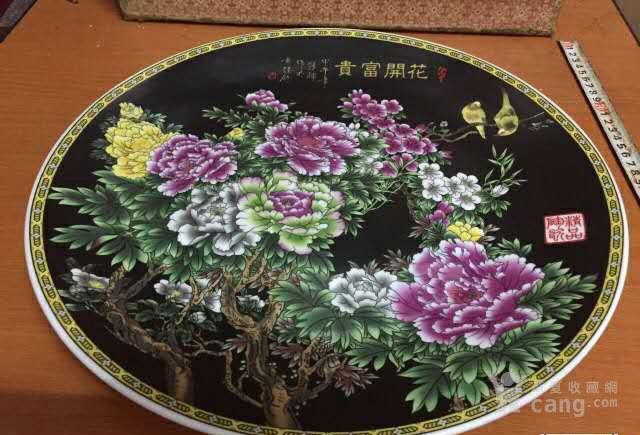 九十代代出口挂盘、牡丹、花开富贵图2