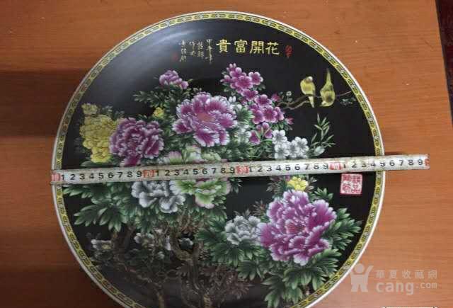九十代代出口挂盘、牡丹、花开富贵图1