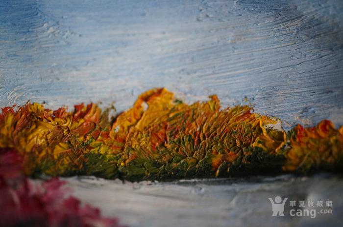 西洋油画贝壳带签名图10