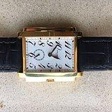 百达翡丽男装18K黄金手动上弦腕表