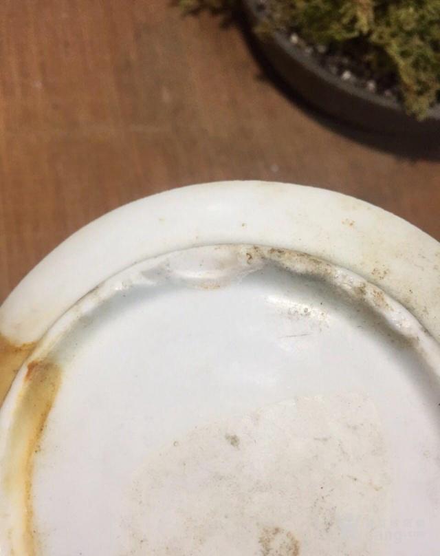 俩个清代,青花盘底可做杯托图4