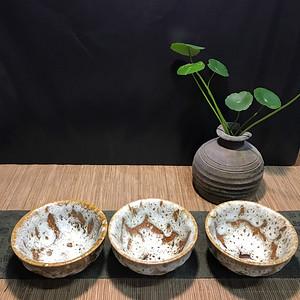 3只台湾柴烧志野杯
