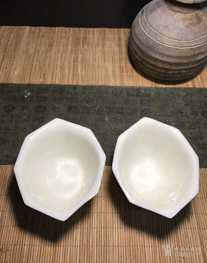 一对德化窑明代八方梅花杯,口径了8cm,高4.5cm简洁素雅图5