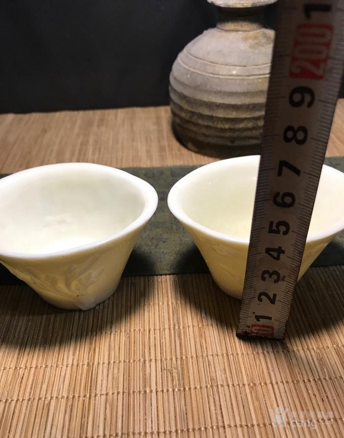 一对德化窑明代棱形兰花杯,口径7cm,高4.5cm,图8