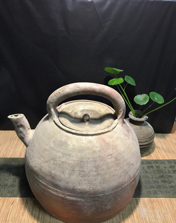 清代大茶壶,煮茶佳器,盖后配图1
