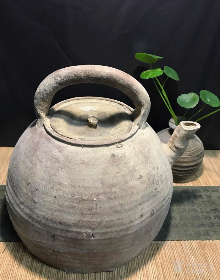 清代大茶壶,煮茶佳器,盖后配图3